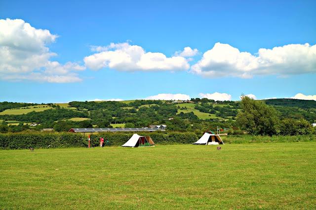 camp site in Cheddar