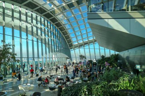 Inside the Sky Garden one of the newest of the London Observation Points