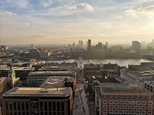 View from St Paul's Cathedral a London Observation Points