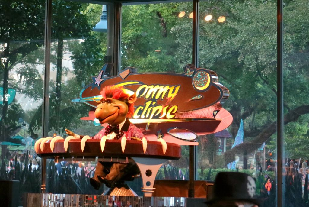 Sonny Eclipse performing at the Disney World quick-service restaurant Cosmic Rays
