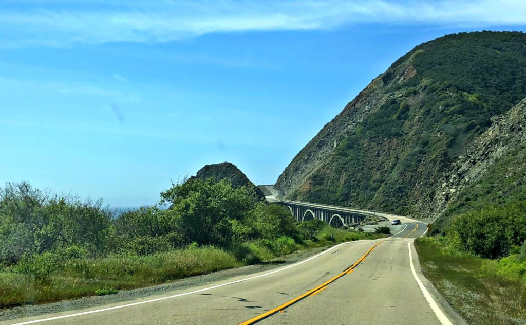 bridge view on the big sur on the Pacific Coast Highway