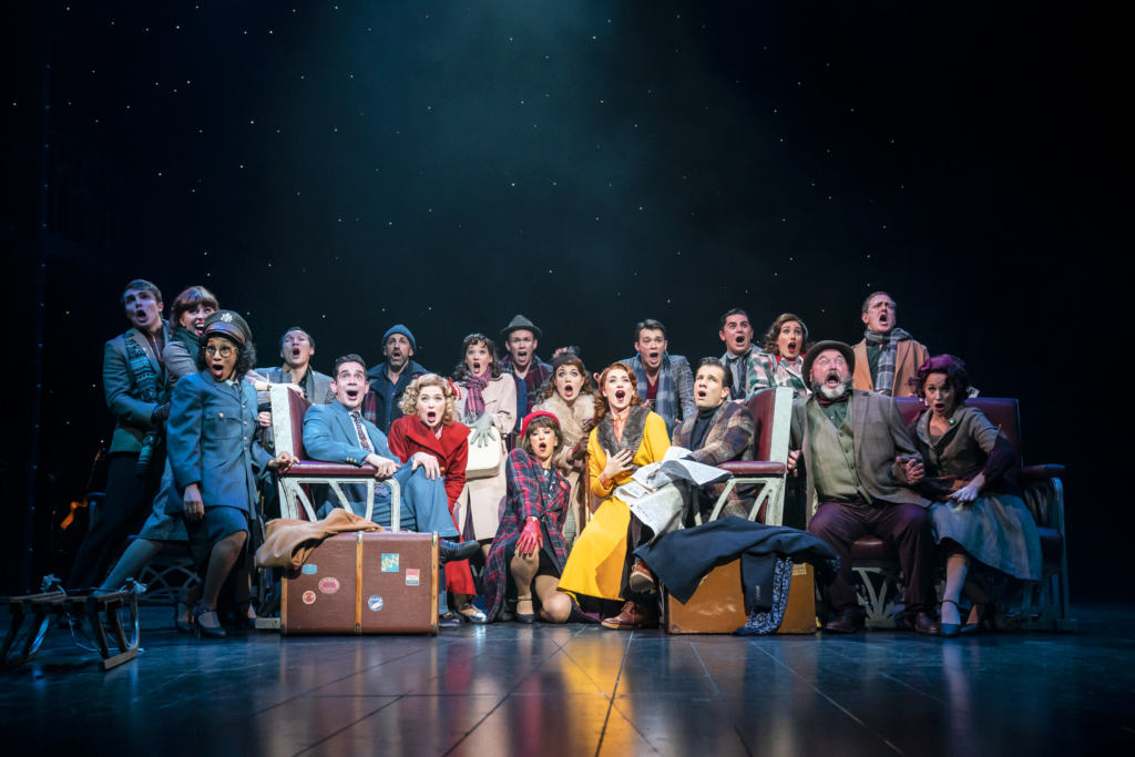 White christmas full cast on stage