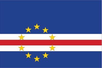 Bandera verde blanco y azul horizontal