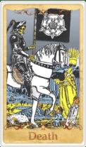 La Death Tarot Card basata su Rider-Waite