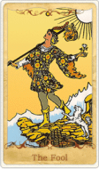 The Fool Tarot Card basato su Rider-Waite