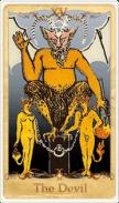 The Devil Tarot Card basato su Rider-Waite