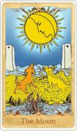 The Moon Tarot Card basato su Rider-Waite