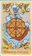 La carta dei Tarocchi della Ruota della fortuna basata su Rider-Waite