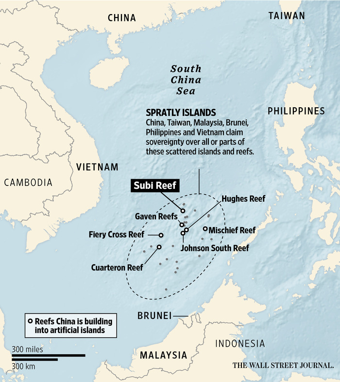 Image result for map of chinese islands built
