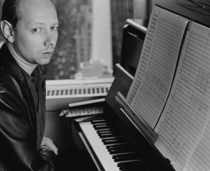 British singer-songwriter Joe Jackson in New York City in March 1987, five years after the release of his hit 'Steppin' Out.'