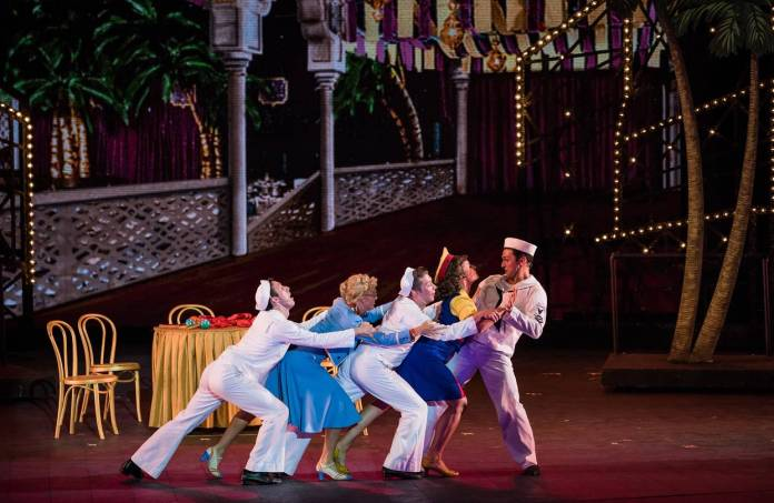 Drew Redington, Sarah Bowden, Leeds Hil, Jenny Powers and Garen Scribner in 'Jerome Robbins' Broadway'
