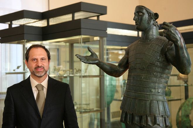 Maurizio Sannibale, director of the Gregorian Etruscan Museum, part of the Vatican Museums.