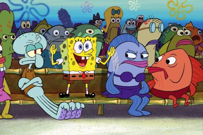 SpongeBob's can-do spirit is admirable, but was he the one who saved Bikini Bottom in the Broadway production?