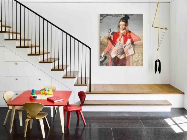 SMOOTH TRANSITION In a San Francisco home, designer Nicole Hollis connected the main floor to the children's play space with sophisticated whimsy.