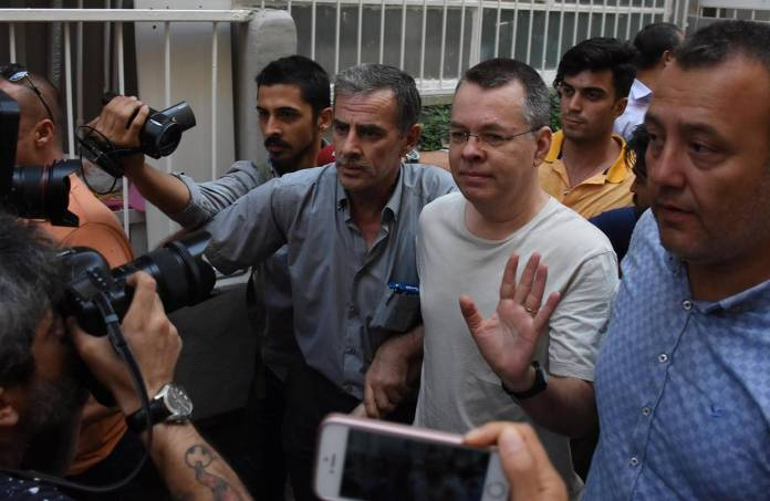 Turkey freed U.S. pastor Andrew Brunson from prison and placed him under house arrest at his home in the port city of Izmir in July.