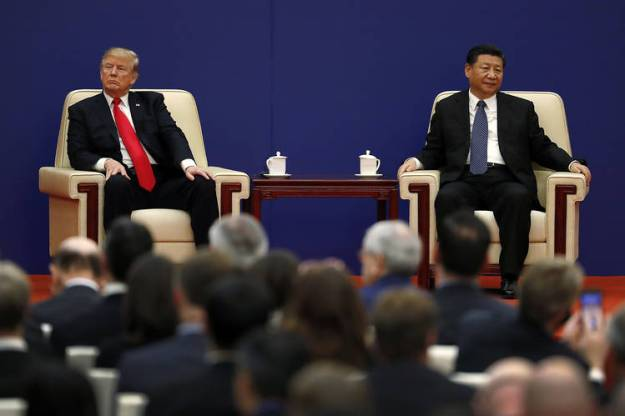 President Trump and Chinese President Xi Jinping at the Great Hall of the People in Beijing in November 2017.