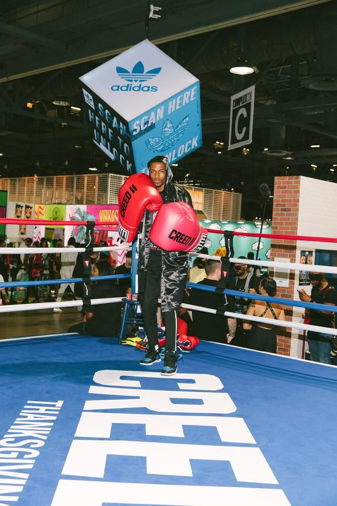 The show was not limited to clothing companies. 'Creed II' had a booth, complete with a boxing ring, to drum up hype for the upcoming film.