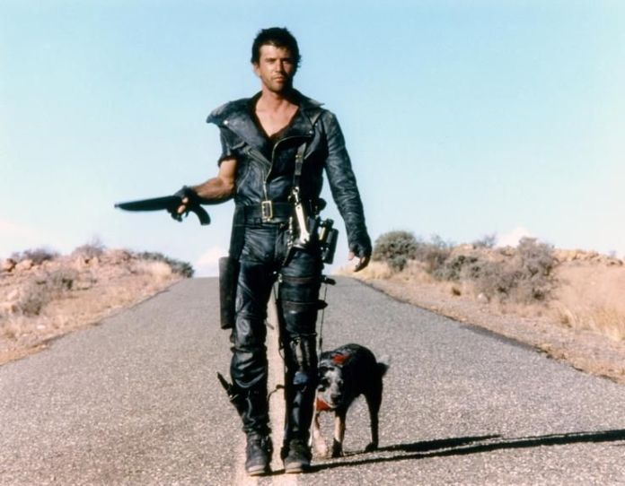 "Mel Gibson showing some early harness style in 1981's ""Mad Max 2: The Road Warrior."""