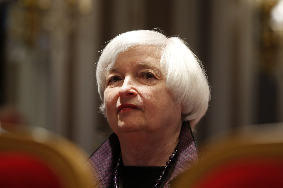 U.S. Federal Reserve Chair Janet Yellen at a conference of central bankers hosted by the Bank of France in Paris on Friday.