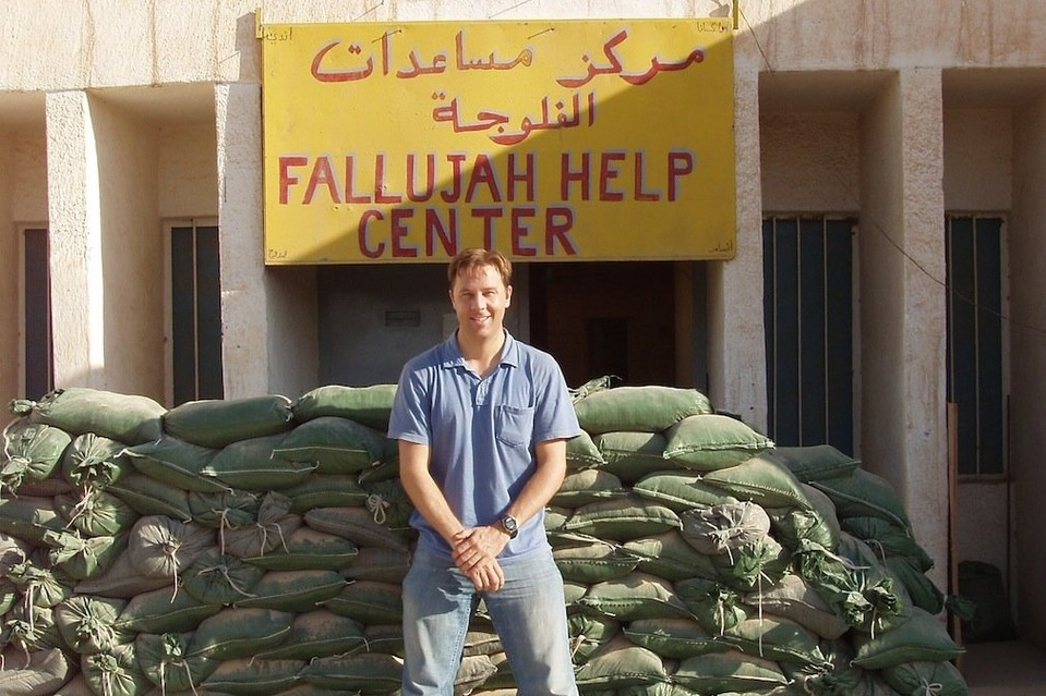 Former diplomat John Kael Weston, shown in Fallujah, where he worked from 2004 to 2007 with the Marines, said he feels guilty and helpless about Iraqi colleagues who are now being hunted by Islamic State.