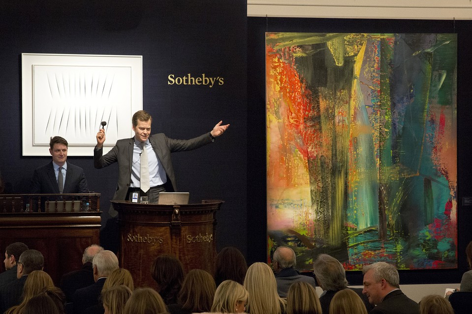 The sale of Gerhard Richter's 'Abstract Picture, 599' for $46 million set an auction record for the German artist.