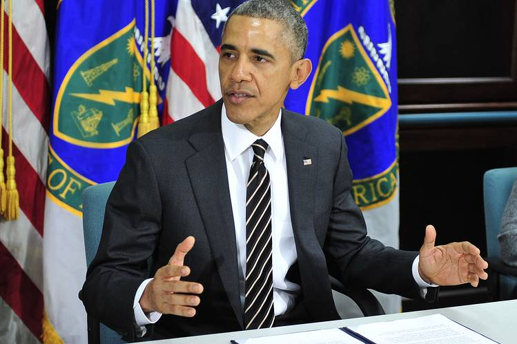 President Obama during a meeting on energy and climate change at the U.S. Department of Energy in March.