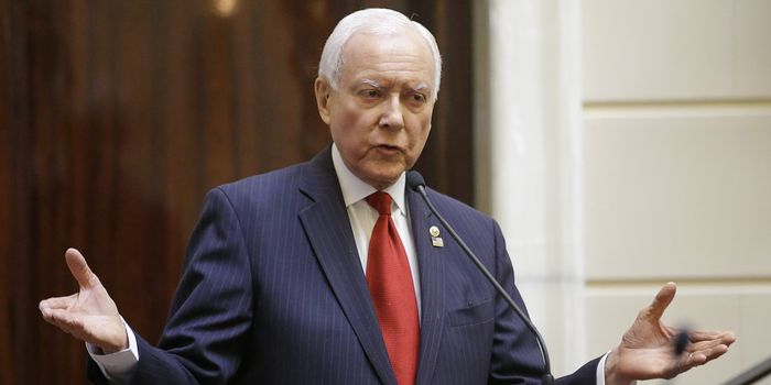 Senate Finance Committee Chairman Orrin Hatch, shown in February, said the report showed a 'political agenda' at the IRS.