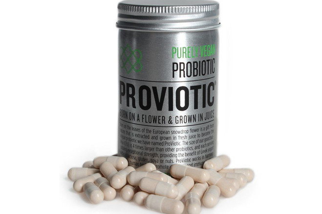 ProViotic, a dietary supplement, contains a strain of bacteria shown in laboratory tests to act against a wide variety of potentially harmful microorganisms.