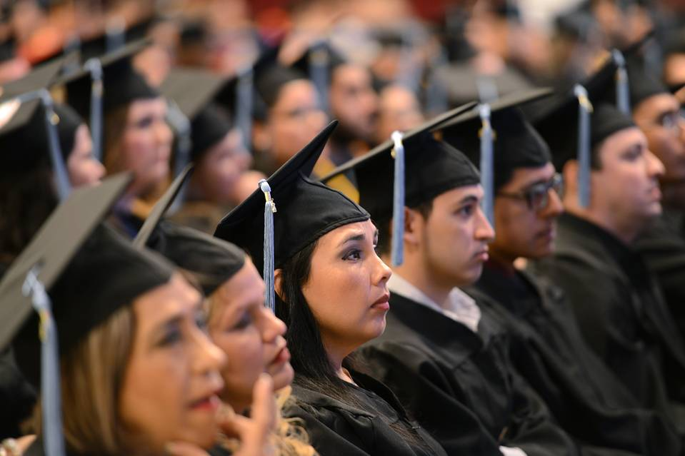 The 2015 graduating class of Texas Southmost College attending a commencement ceremony in Brownsville on May 16.