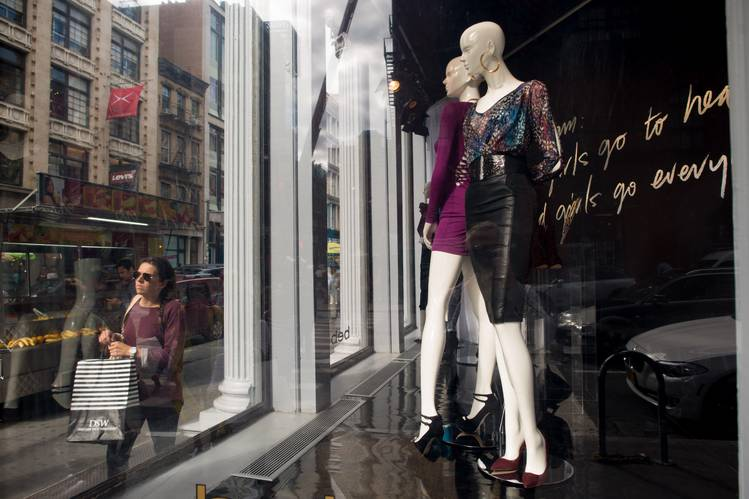 A Bebe Stores window in New York City. In April, the retailer said it had made an 'inadvertent disclosure' while meeting with a 'select group of investors.'