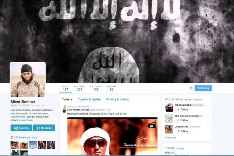 A Twitter account used by Mohammed Rehman, who used the pseudonym 'Silent Bomber.'