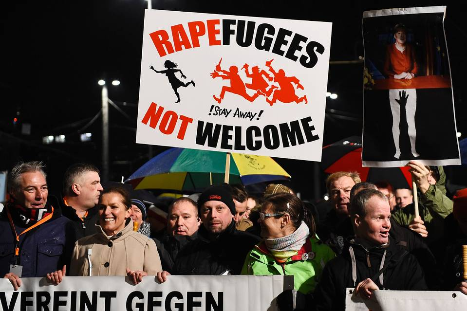 Protesters in Leipzig, Germany, Jan. 11.