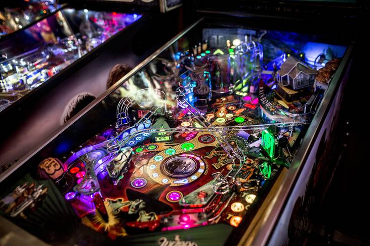 One of the many machines at Modern Pinball NYC.