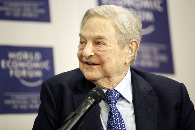 George Soros, of Soros Fund Management, at the World Economic Forum in Davos, Switzerland, recently. He said he is betting against Asian currencies.
