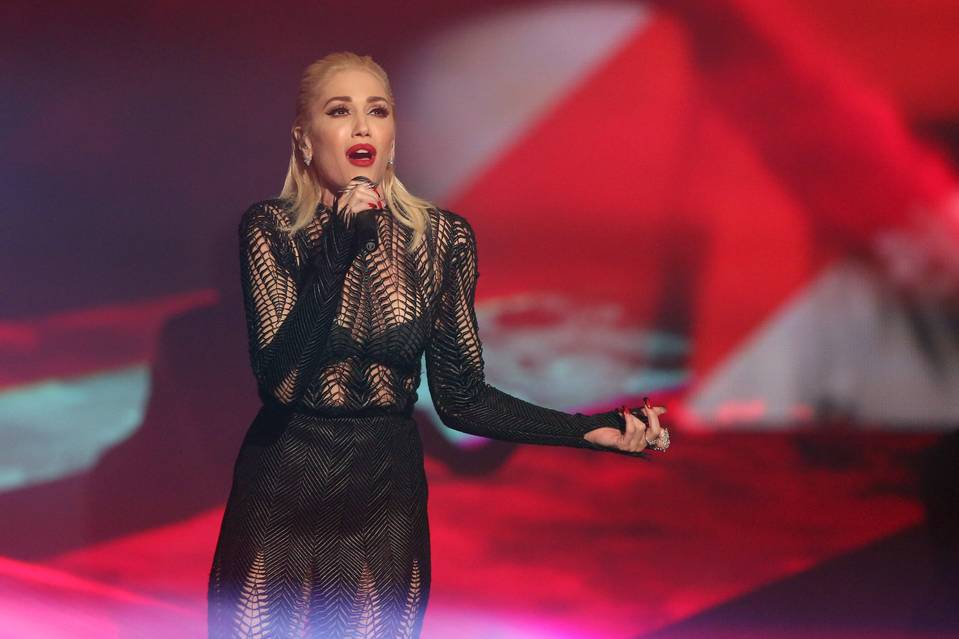 "Gwen Stefani performs ""Used to Love You"" at the American Music Awards at the Microsoft Theater on Nov. 22 in Los Angeles."