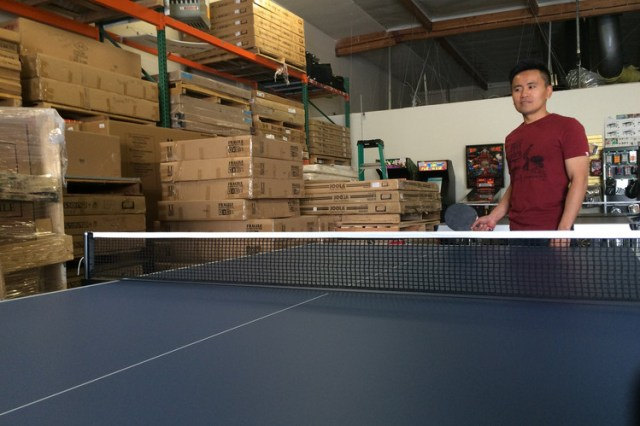 Sales of ping-pong tables to companies by Simon Ng's San Jose store track the tech economy.
