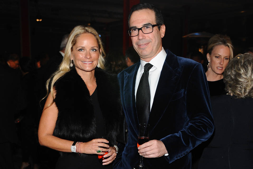 Heather Mnuchin and Steven Mnuchin in Los Angeles in 2013.
