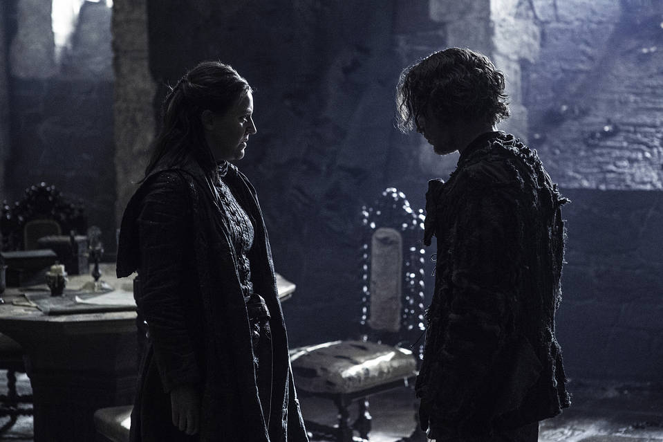 Gemma Whelan as Yara Greyjoy, left, and Alfie Allen as Theon Greyjoy in 'Game of Thrones.'