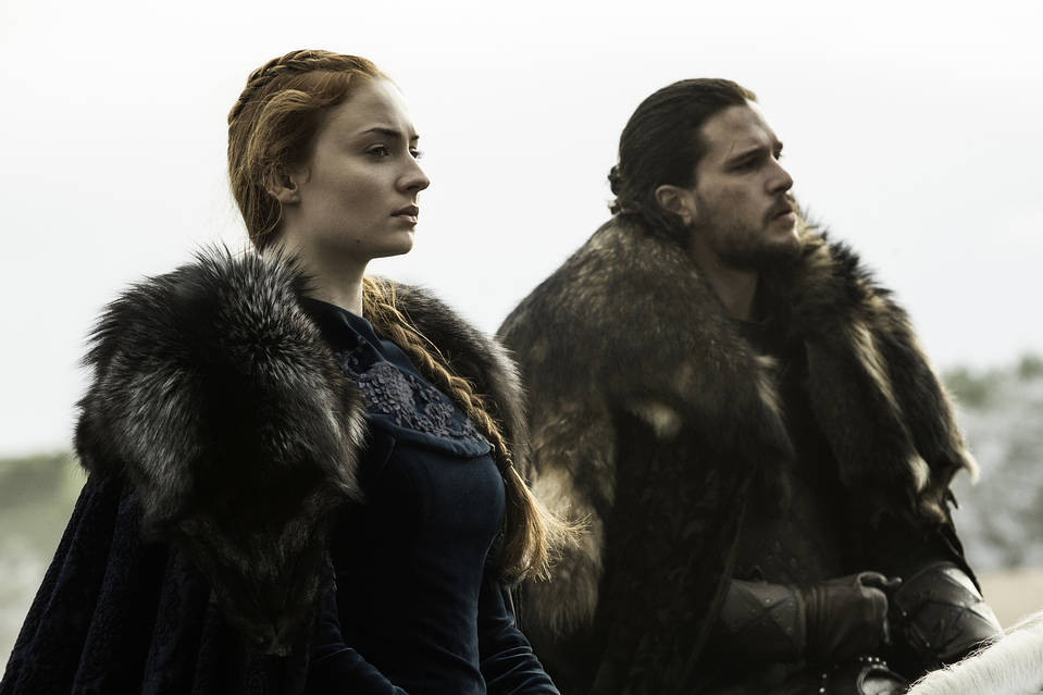 Sophie Turner and Kit Harington in 'Game of Thrones.'