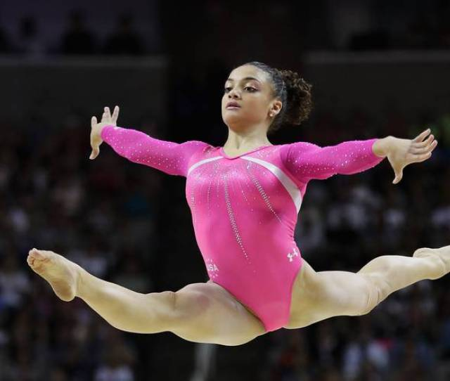 Lauren Hernandez Competes In The Floor Exercise During The U S Olympic Trials