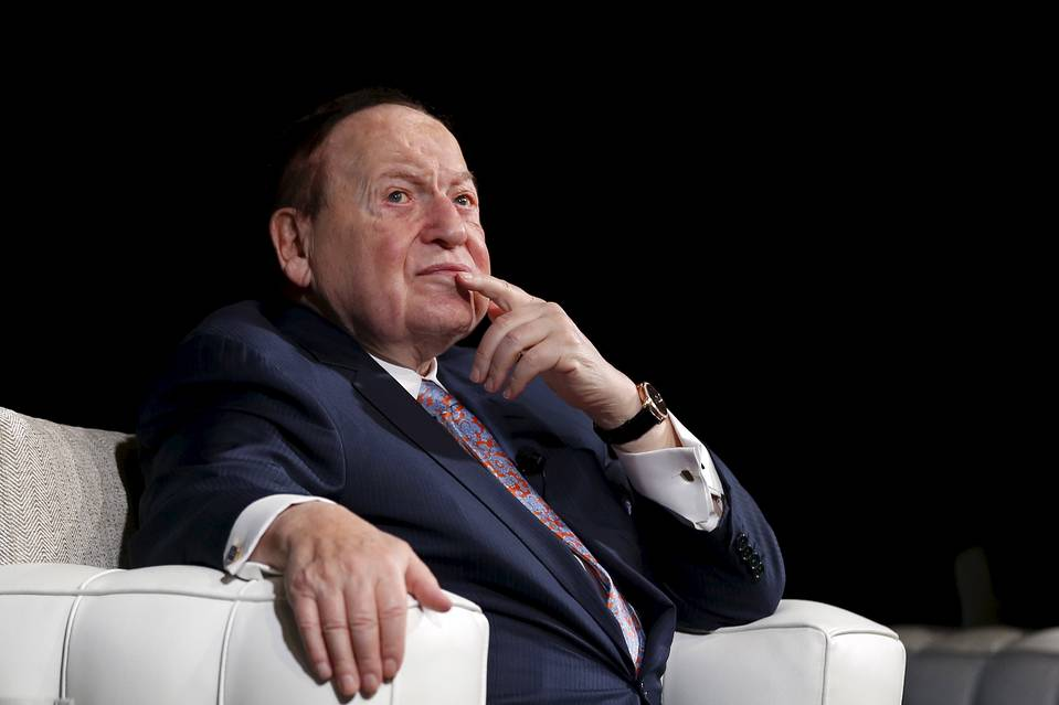 Sheldon Adelson in Macau, China, in December 2015.