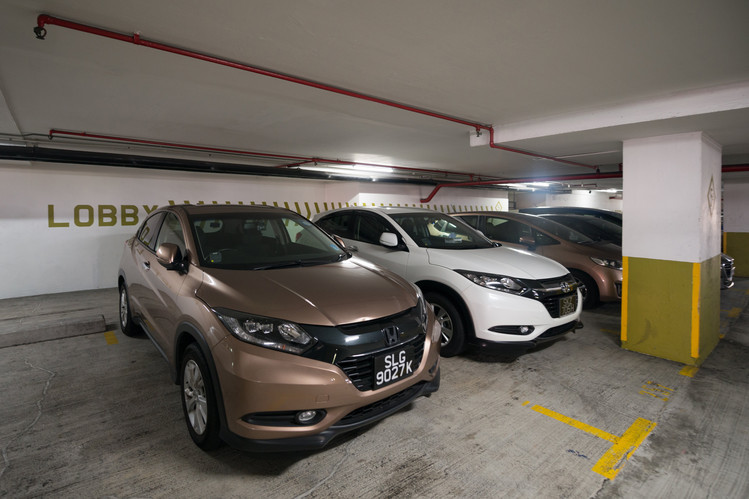 Honda Vezels in a Singapore parking lot this week.