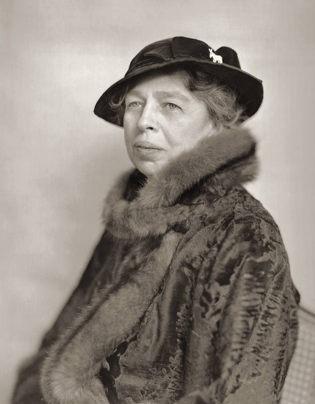 Eleanor Roosevelt's mother and her father, an alcoholic, died by the time she was 10.