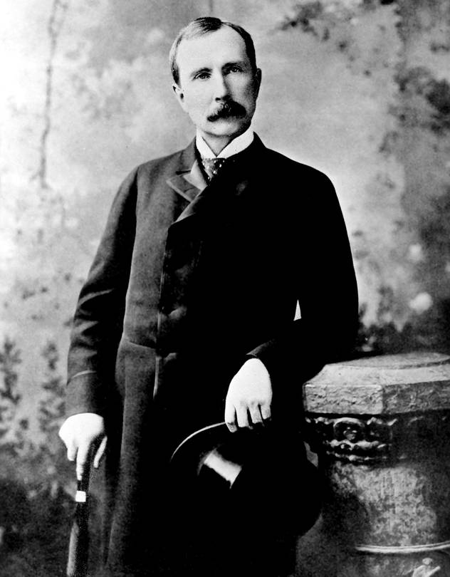 John D. Rockefeller's father was a con man and often absent.