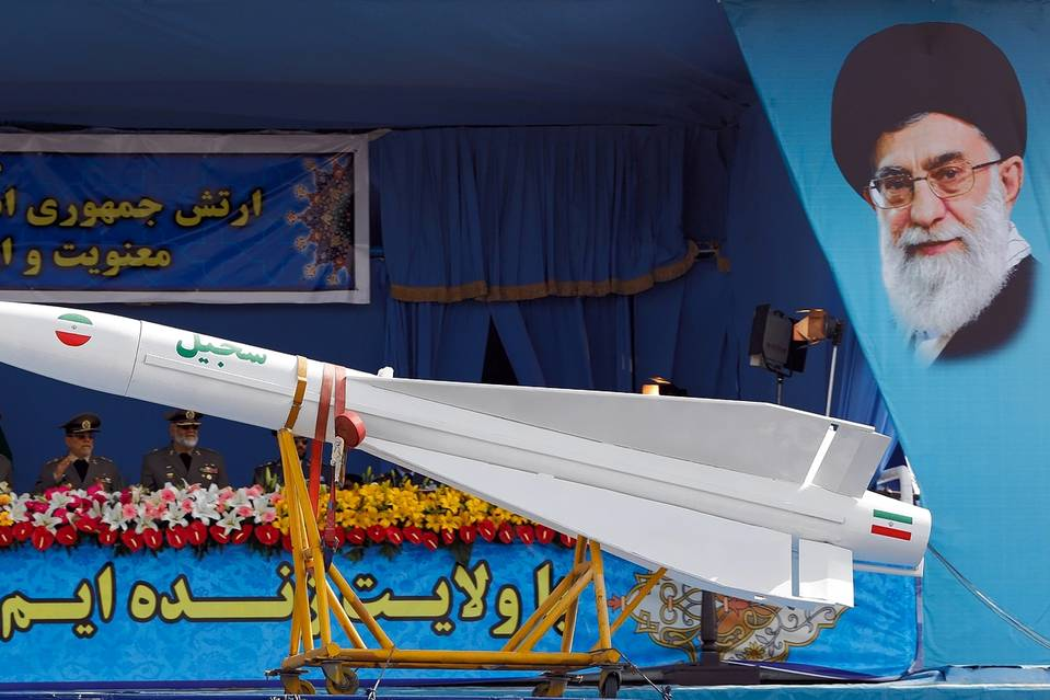 A military parade in Tehran for National Army Day on April 18 included an Iranian-made Sejil midrange ballistic missile.