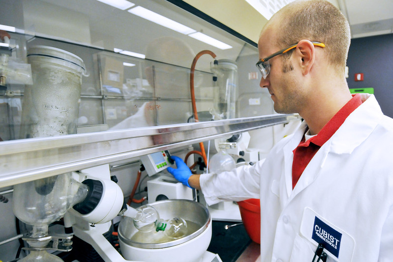 Merck agrees to buy antibiotics maker Cubist Pharmaceuticals for $8.4 billion. Above, a lab technician distills chemicals in a vat of ethanol a Cubist Pharmaceuticals research facility.