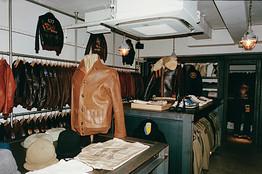Retro Americana on display at the Real McCoy's Tokyo shop