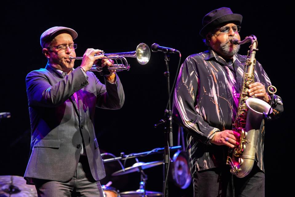 Dave Douglas and Joe Lovano perform in London in 2014.