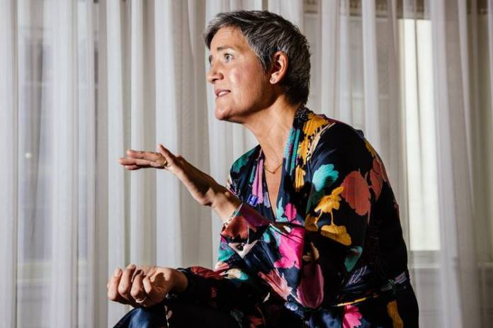 Margrethe Vestager says she never looks at the nationality of a company when cases are brought to her.
