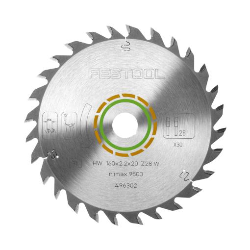 FESTOOL Saw blade HW 160X22X20 W28